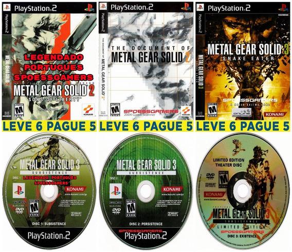 Coleção Metal Gear Solid (6 Dvds) Ps2 Desbloqueado Patch