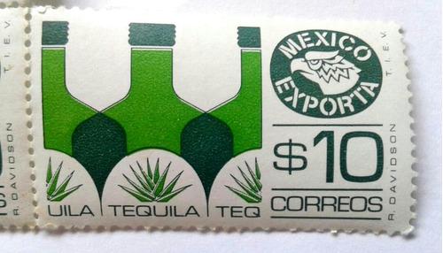 Imagen 1 de 3 de Timbres Postales México Exporta Tequila