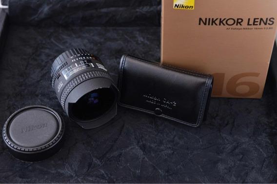 Lente Nikon 16mm F2.8 Fisheye Fullframe