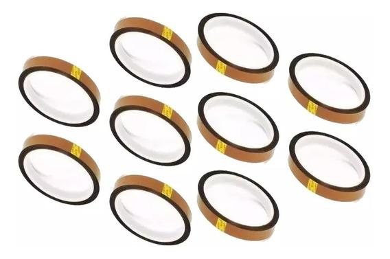 10 Fitas Adesiva Térmica Para Sublimação 6mm X 33m Kapton