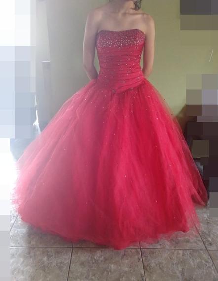 Vestido Rojo Xv 15 Años Fiesta Mujer Quinceañera Usado 1 Vez