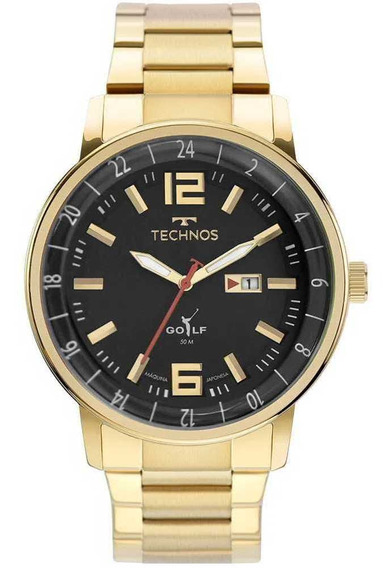 Relógio Technos Classic Golf Masculino Dourado 2115mwd/1p