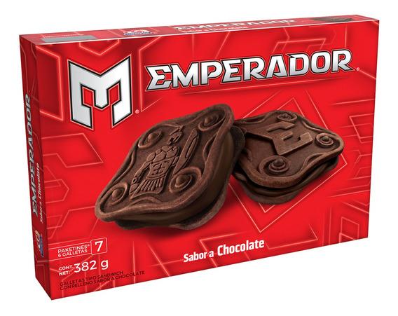Caja Galletas Emperador Sabor Chocolate382grs.