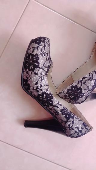 Bonitos Y Cómodos Zapatos Con Encaje Y Brillo #3