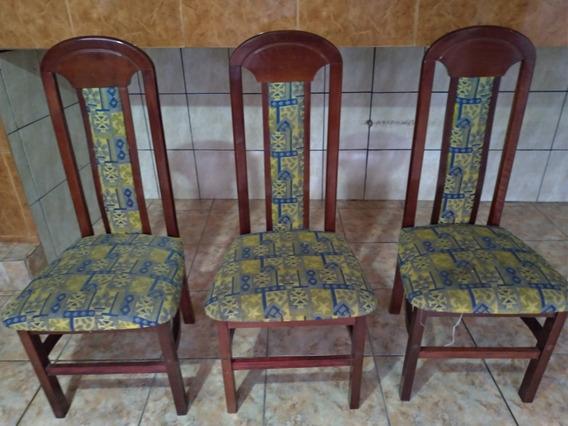 Cadeiras Com Forro Estampado Para Cozinha / Sala De Jantar