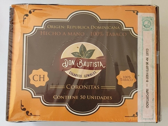 Caja Cigarros Coronitas Don Bautista Chocolate Por 50 Rd
