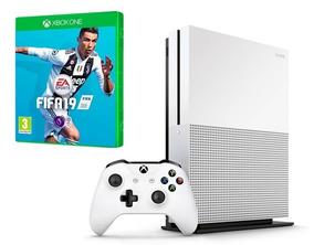 Xbox One S 1tb 4k + Jogo Fifa 19 Mídia Física