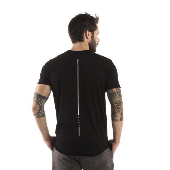 Camiseta Longline Curve Reverse Preto