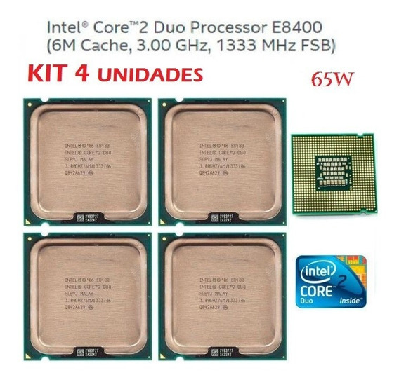 Kit 4 Processadores Intel Core 2 Duo E8400 3.0ghz Fsb 1333