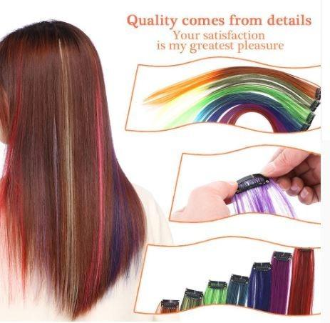 Extensiones De Colores De Cabello Clip Varios Colores