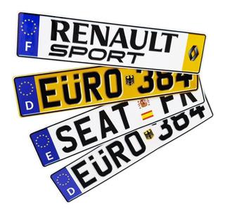 Euro Placas Metalicas De Carro Europeas Personalizada Reflej