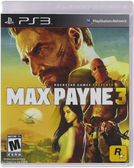 Max Payne 3, Ps3, Impecavel, Original, Completo