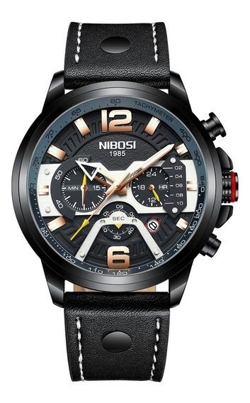 Relógio Masculino Nibosi Luxo Funcional Original Promoção