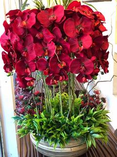 Centro De Mesa Orquídeas Artificiales