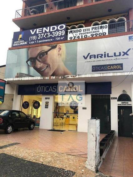 Prédio À Venda, 720 M² Por R$ 3.300.000 - Jardim Chapadão - Campinas/sp - Pr0006