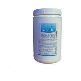 Crema Base Neutra 1kg Bacterall - Para Masajes Corporales