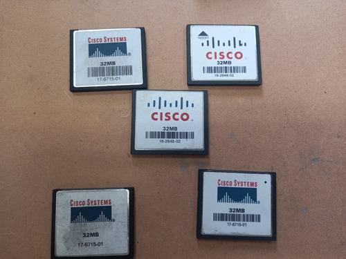 Kit 5 X Cartao Compact Flash 32 Mb Marca Cisco