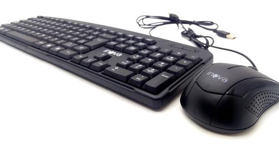 Teclado Usb E Mouse Usb Para Computador Notebook Envio 24 H