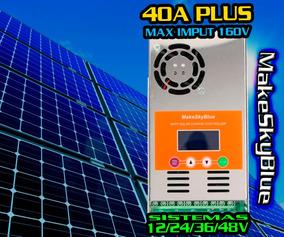 Controlador Carga Mppt 40a 160v P/ 12/24/36/48v Makeskyblue