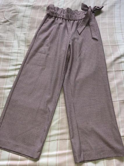 Pantalón Casual Talle Alto Marca Zara Talla S
