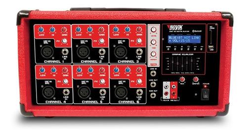 Consola Mixer Potenciado Novik Nvk6400bt 6c200w Bluetooth Sm