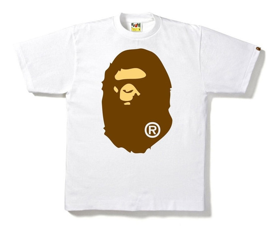 Playera Bape A Bathing Ape - Big Ape Head - White