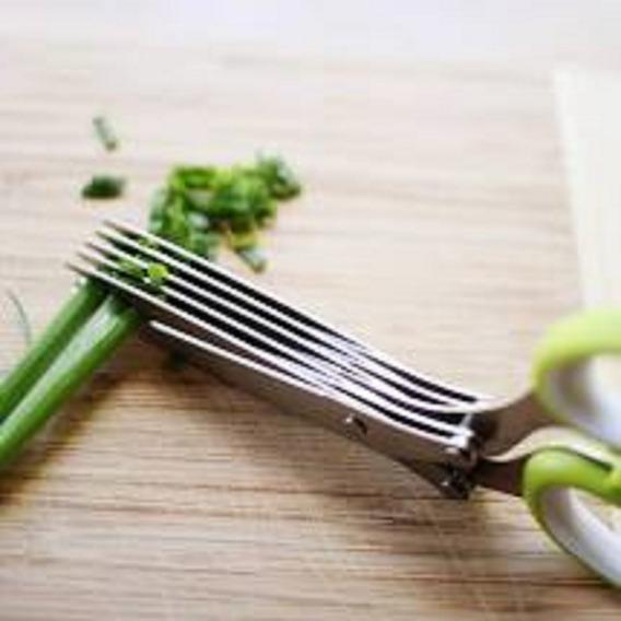 Tijera De Cocina Multicorte Para Hierbas Con Peine