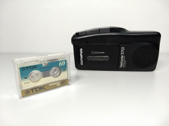Micro Gravador Voz Portátil Olympus S701 Microcassette