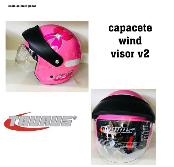 Capacete Taurus Wind Visor V2 Rosa Tamanho 58