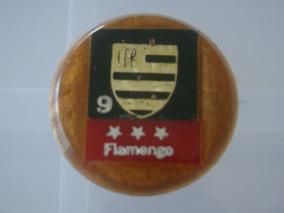 Cod 021 - Botão Embandeirado Do Flamengo Numero 9