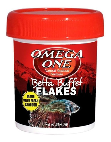 Betta Buffet Flakes 7gr Omega One Para Peces Betta