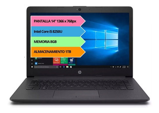 NOTEBOOK HP 6GH55LT I5 8250U 8GB 1TB 14 GARANTIA OFICIAL 12C