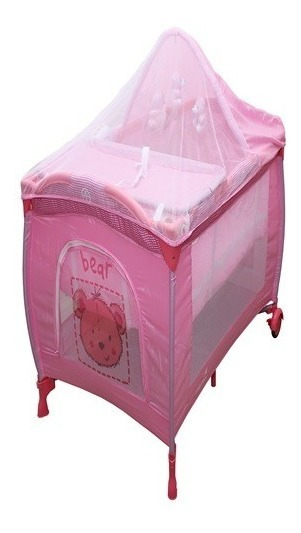 Berço Portátil De Bebê Musical Rosa Ultimas Peças Compre Já!