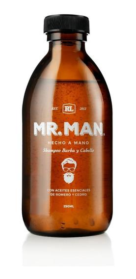 Kit 5 Shampoos Bergamota Natural Organico Mr. Man 250ml