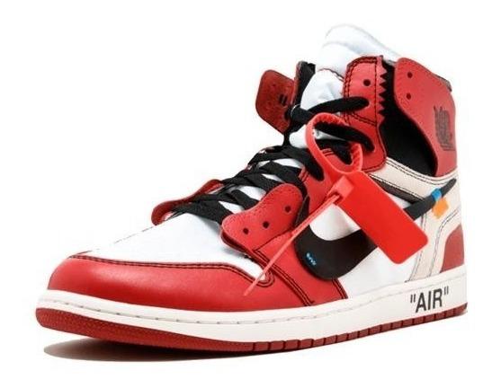 Tênis Masculino Air Jordan 1 Off White Hype Promocional
