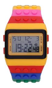 Kit 2 Relógio Digital Adulto Infantil Lego Frete Gratis