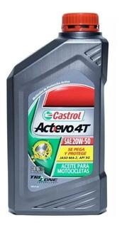 Aceite Castrol Actevo 4t 20w50 Mineral Moto X 1 Litro - Check Oil