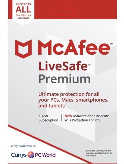 Antivirus Mcafee Livesafe Premium 1 Pc 2 Anos Original