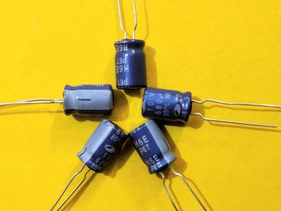 Kit Com 50 Capacitor Eletrolítico 680x10v 85°