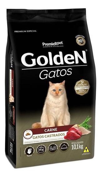 Ração Premium - Premier Pet Golden Gatos Adultos Castrados Carne 10kg