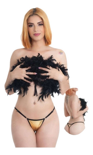 Panty Hilo Metalizado Ajustable Sensual Lenceria Femenina