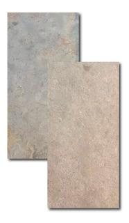 Piedra Ardosia Oxido 30x60 Rectificada Importada Oferta