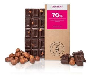 Tableta Chocolate Dr Cacao 70% Avellanas Enteras X70grs X10