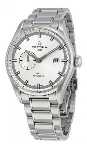 Relógio Masculino Automático Certina Ds1 Preto/prata/aço