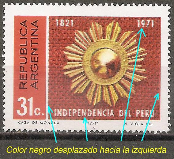 Argentina 901 Gj 1567 Variedad Catalogada Independencia Perú