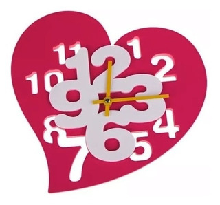 Reloj Pared Corazon Decorativo Infantil Recamara Regalo 395