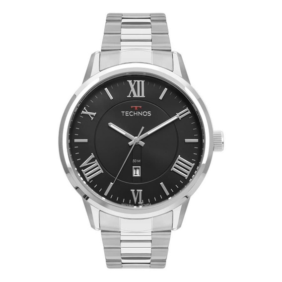 Relógio Technos Masculino Ref: 2115mtz/1p Classic Prata