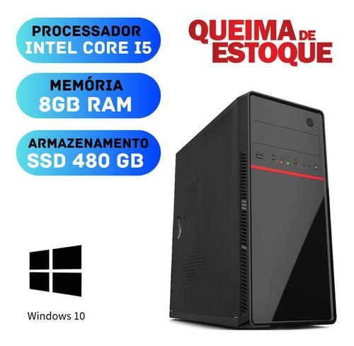 Computador Pc Smart I5 8gb Ram Ssd 480 Windows 10 Pró