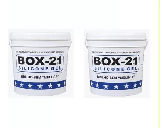 Kit 2 Silicone Box 21 3,6 Brilho Sem Meleca