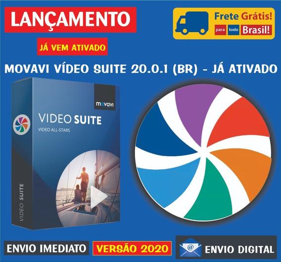 Movavi Vídeo Suite 20.0.1 Br/editor, Conversor Gravador Tela